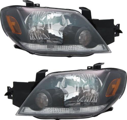 Headlights Headlight Assembly w//Bulb NEW Pair Set for 03-04 Mitsubishi Outlander
