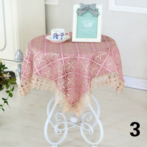 Retro-Floral-Lace-Tablecloth-Coffee-Dining-Round-Square-Table-Cover-Modern-Decor