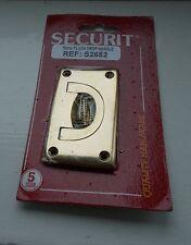 70mm Solid polished brass flush drop door/drawer handle