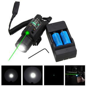 Linterna-Led-Tactica-300LM-verde-rojo-laser-vista-Combo-Para-Rifles-Pistola-de-20mm