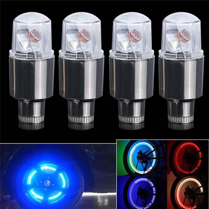 Lot 2pcs RGB LED Tyre Tire Valve Caps Neon Light Bike Car motorcycle Lamp