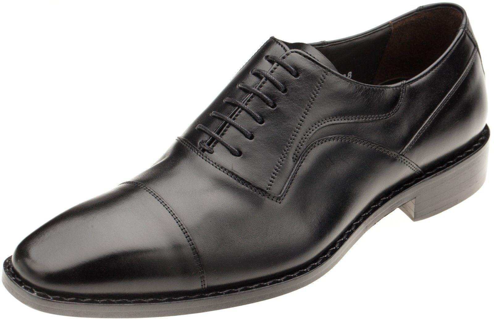 Sconto del 70% Mezlan Mezlan Mezlan Uomo 12912 nero Leather Cap Toe Oxford Dress Shoe  marchi di stilisti economici