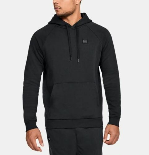 Under Armour Rival Fleece Hoodie Adult/'s Black RRP £42