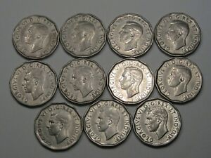 11-Better-Date-1946-Canadian-5-Cent-Coins-Part-Roll-CANADA-25