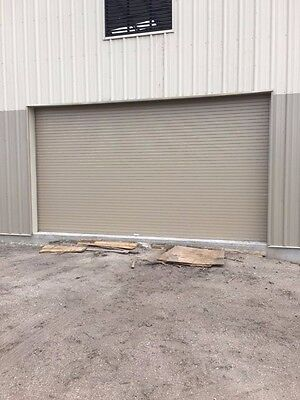 Insulated Roll Up Overhead Garage Door 12 Feet Wide X 12