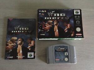 Nintendo N64 PAL Juego WWF No Mercy Completo en Caja con Manual libre de Reino Unido P&p