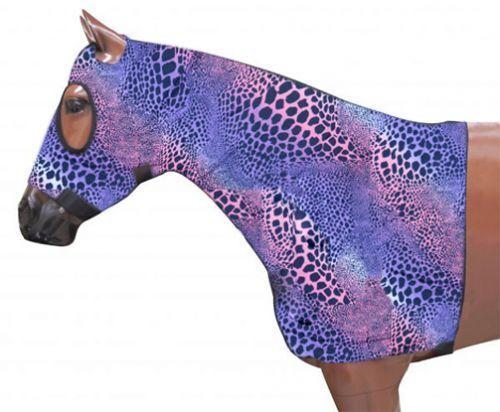 HORSE MANE TAMER SLINKY LYCRA  PRINT ZIPPERED HOOD BRAID SHOULDER GUARD ALL SIZES  shop online today