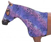Horse Mane Tamer Slinky Lycra Print Zippered Hood Braid Shoulder Guard All Sizes