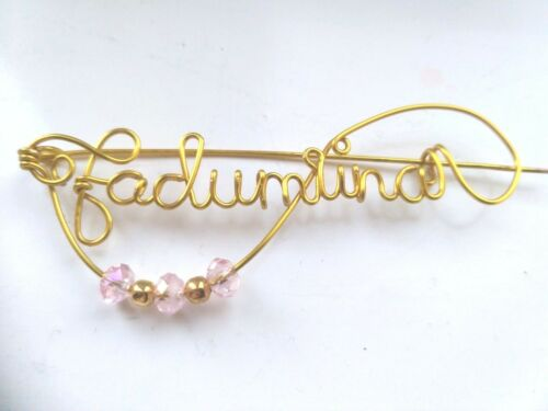 Name badge Wire personalized name pin name brooch Staff Name Badges Name Tag UK