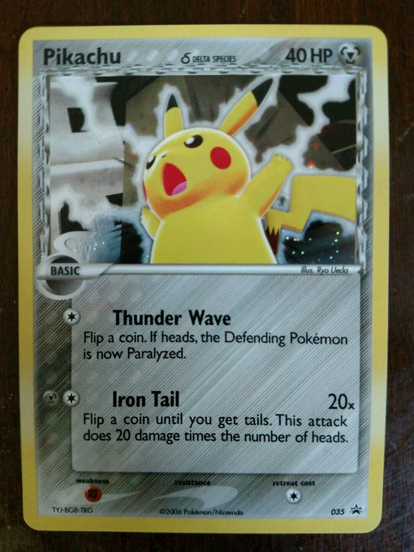 Pikachu Holographic Promo card. 035.