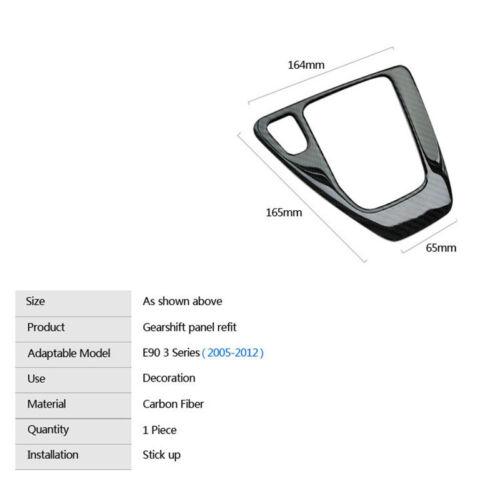 1Pcs ABS plastic carbon fiber Gear Frame decoration for BMW E90 E91 E92 E93 TH