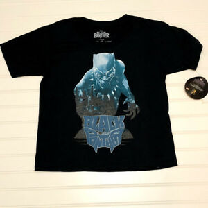 NWT-Boys-BLACK-PANTHER-T-Shirt-Size-Medium-M-8-Glow-in-the-Dark