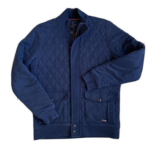 Ted Baker Quilted Jacket Men's Medium 4  Navy Blue