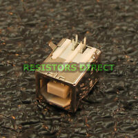 10x Usb Type B Female Right Angle Pcb Mount Socket Port Connector Replacement