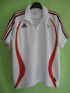 Polo Equipe de France coupe du monde vintage shirt Adidas Blanc - 6 / L