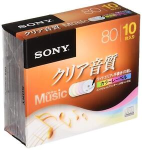 X10-SONY-JAPAN-Blank-Music-Audio-CDR-CD-R-Discs-48x-Color-label-10CRM80HPXS