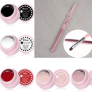 6Pcs-5ml-Nail-Gel-Polish-amp-UV-Gel-Brush-Varnish-Soak-Off-UV-LED-Gel-Nail-Art-Set