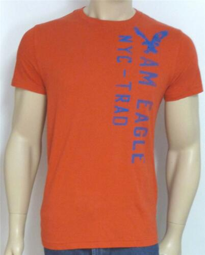 American Eagle Outfitters OEA NYC-trad Tee-Shirt Homme Brodé Rouge T-shirt Nouveau Neuf avec étiquettes