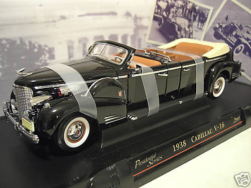 CADILLAC V-16 1938 PRESIDENTIAL LIMO cabriolet 1 24 YAT MING 24028 voiture minia