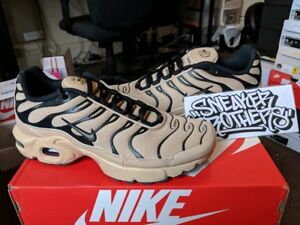 cheap for discount 50596 086c9 Details about Nike Air Max Plus TN Tuned 1 GS Desert Ridgerock Tan Beige  Black 655020-201