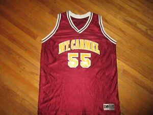 vtg MT CARMEL 55 BASKETBALL JERSEY Mount Golden Aces ILLINOIS School Ohio M/L