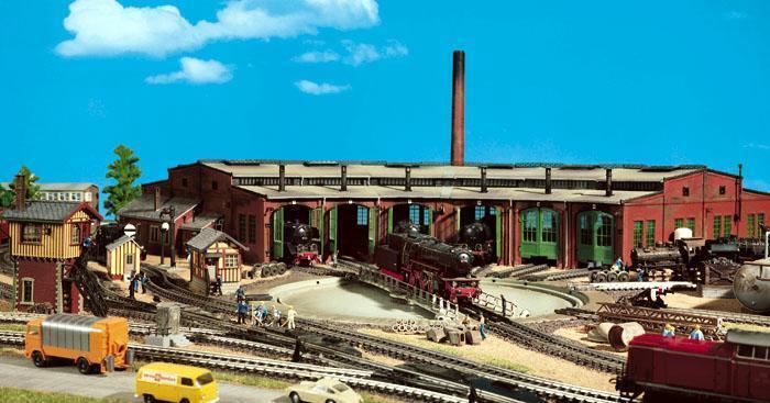 Vollmer 45758 Anello Locomotiva Capannone 6 Sempre Nuovo Conf. Conf. Conf. Orig. 86x42x13 cm b83dea