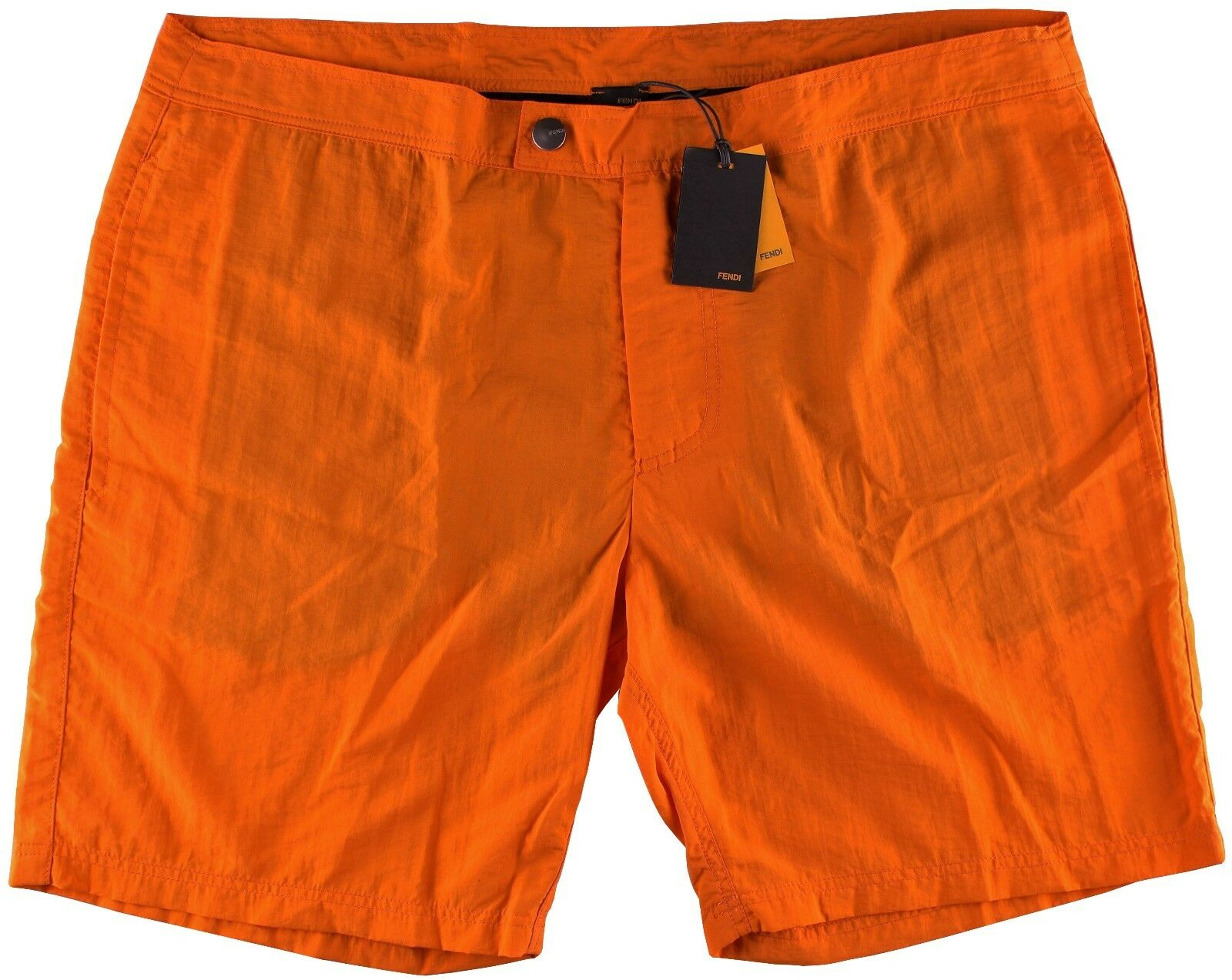 NWT FENDI SWIM TRUNKS shorts fxb060 solid orange polyamide luxury  52 L
