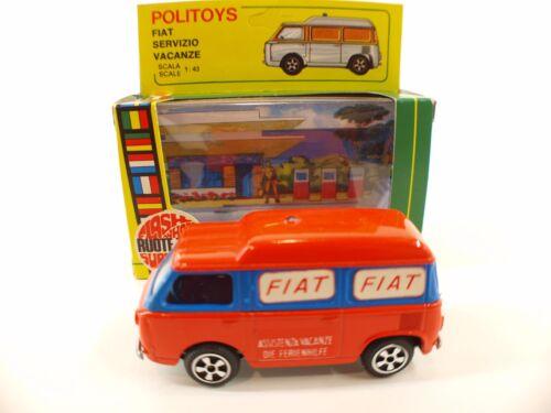 Politoys N ° E24 Fiat 850 Service d'Assistance Vacances 1/43 Neuf Boite Boxed Rare