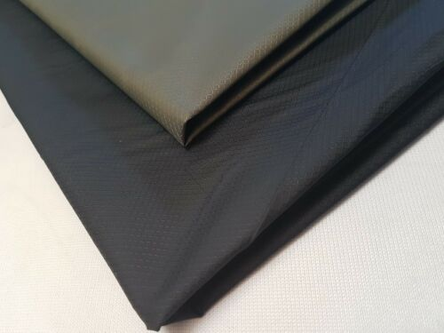 BLACK /& OLIVE FABRIC MATERIAL CLOTH WATERPROOF 2oz*//60gsm- DIAMOND PATTERN