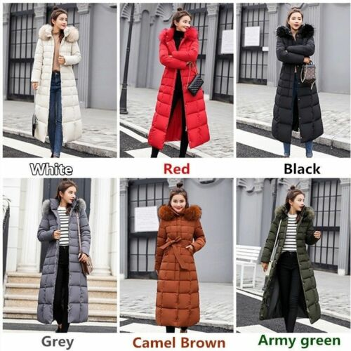 Hooded Dame Parka Jacket Coat Fur Winter Collar Long Thicken Outwear Warm Down aCCwr1qt