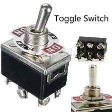 AC 250V/15A 125V/20A ON/OFF/ON 3 Position DPDT Automatic Reset Toggle Switch