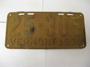 1930-30-Vermont-VT-License-Plate-25-305