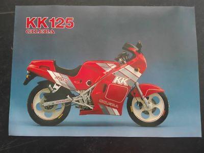 Gilera Kk 125 Catalogo Depliant Brochure Poster Katalog
