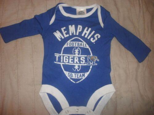 University of Memphis Tigers Football L//S One Piece Bodysuit Creeper B23