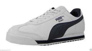 Puma-Roma-Basic-fashion-synthetique-BLANC-BLEU-MARINE-Baskets-Femmes-Youth-Shoes