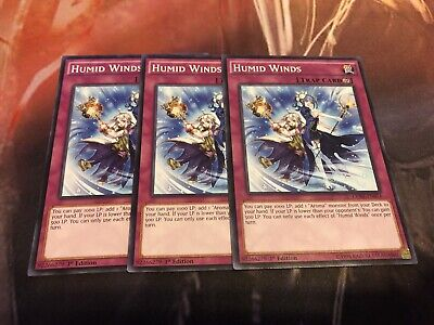 1st Edition 3x Humid Winds Common NM CORE-EN074
