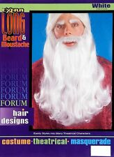 "Santa Claus Gandalf Wizard White Beard and Mustache 18"" Halloween Costume 51712"