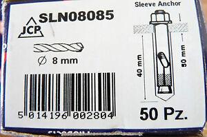 Boîte De 50 Jcp Manche Ancre 8mm Brand New & Boxed-afficher Le Titre D'origine Vif Et Grand Dans Le Style