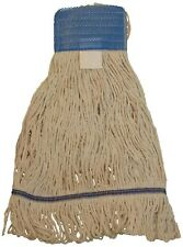Blue Large Antimicrobial WILEN Hospital Pro Wide Band Looped End Mop