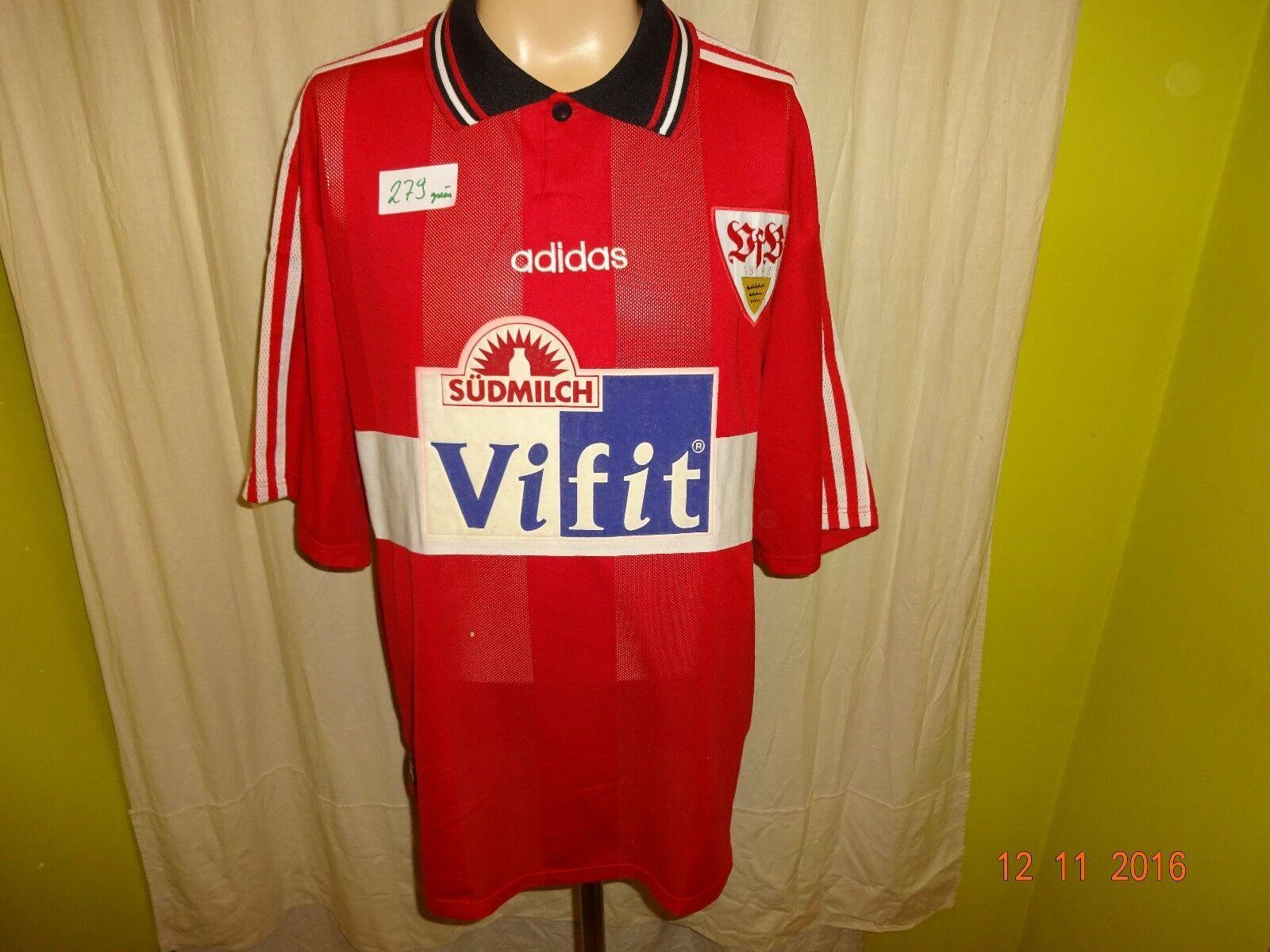 VfB Stuttgart Original Adidas Auswärts Trikot 1996 97 97 97  ViFIT Südmilch  Gr.XXL 233152