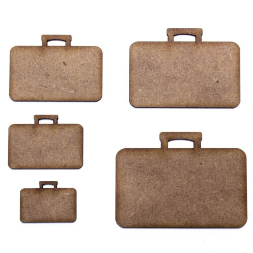 Briefcase Various Sizes Holiday 2mm MDF Wood Summer Suitcase Craft Shape