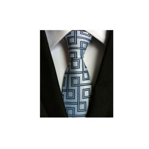 Fashion Men/'s Classic Tie 100/% Silk Necktie Geometric Woven Jacquard Neck Ties
