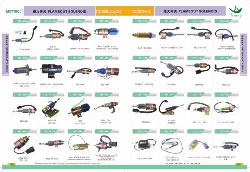 206-60-51130 206-60-51131 SOLENOID VALVE FITS KOMATSU  PC200-6 PC220-6 6D102