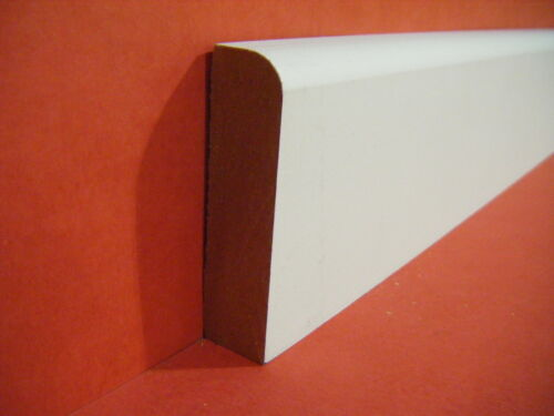 MDF ARCHITRAVE PRIMED 18mm X 69mm ROUND 1 EDGE PER 4.4 METRE LENGTH