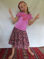 Vetement Ethnique Enfant - Jupe Lisa Bordeaux Rose