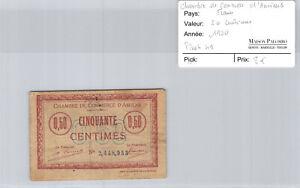 -kammer Handels- D'amiens 50 Cent 1920 N° 2448953 Pirot 49 Wir Haben Lob Von Kunden Gewonnen