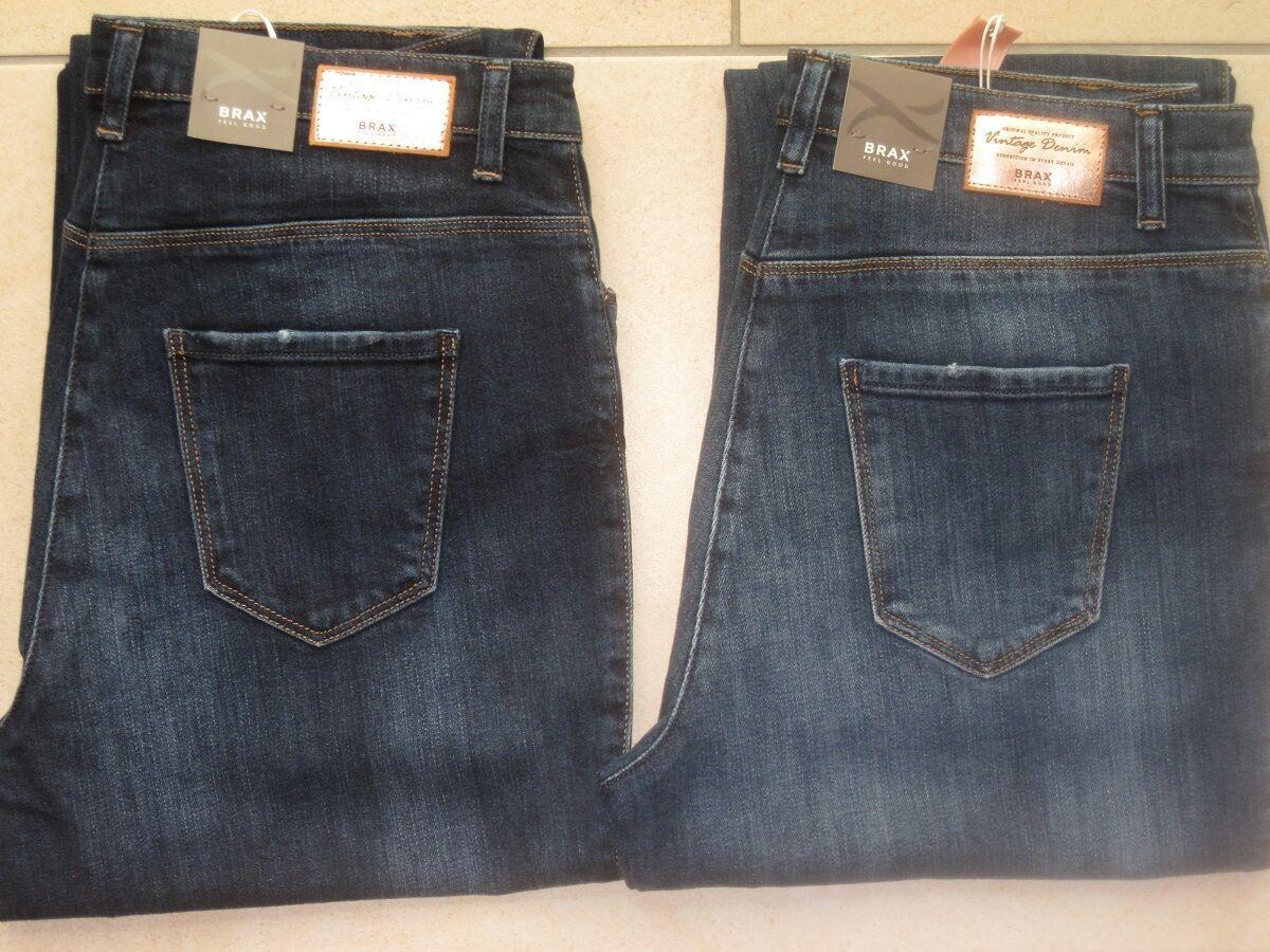 BRAX Jeans Stretchjeans Carola Vintage jeansblau leichtere Ganzjahresware neu
