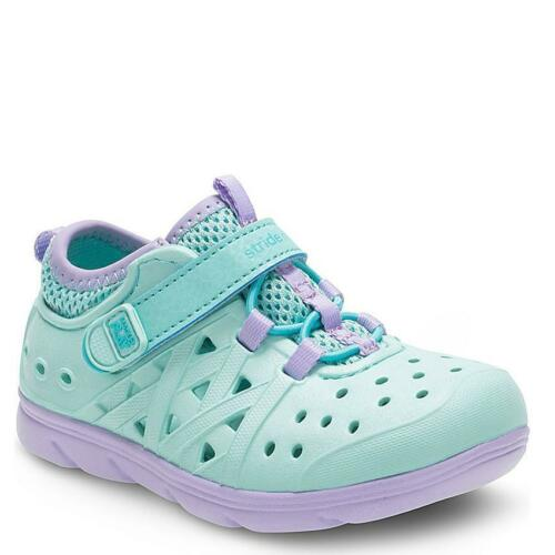 Stride Rite Turquoise Phibian Water Shoes Girls 8M Made2Play Sandals Washable
