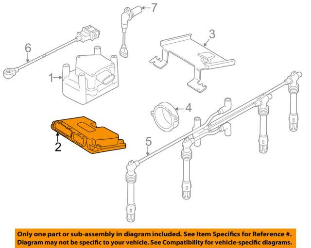 2002 volkswagen jetta golf engine control module ecu ecm 1 9 tdi rh ebay com 2004 Volkswagen Passat Engine Diagram Type 2 VW Engine Diagram