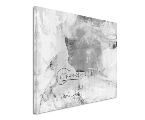 Leinwandbild abstrakt schwarz grau weiß Paul Sinus Abstrakt/_780/_120x80cm